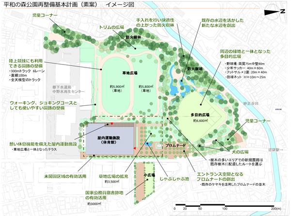 公園 平和 の 中野 森